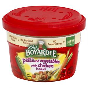 Chef Boyardee Pasta and Vegetables with Chicken in Sauce