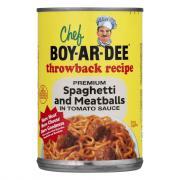 Chef Boyardee Spaghetti with Meatballs in Tomato Sauce