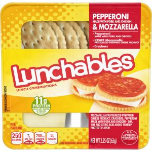 Lunchables Pepperoni & Mozzarella Cheese with Crackers