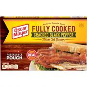 Oscar Mayer Cracked Black Pepper Fully Cook Thick Cut Bacon