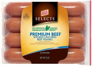 Oscar Mayer Select Beef Hot Dogs