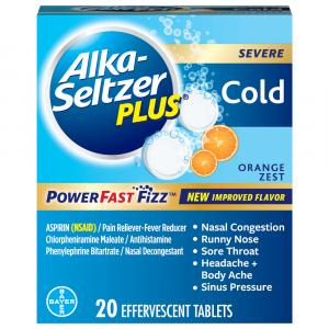 Alka Seltzer Plus Cold Powerfast Orange