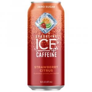 Sparkling Ice Strawberry Citrus + Caffeine