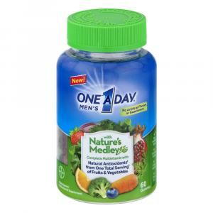 One A Day Nature Medley Complete Multi Vitamin Gummies Men