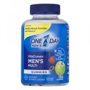 One A Day Men's Vitacraves Gummies 50% More