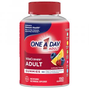 One A Day Vitacraves Regular Gummies 50% More