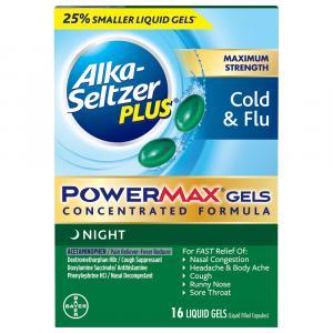Alka-Seltzer Plus Power Max Gels Night Cold & Flu