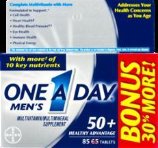 One A Day Mens 50 Plus Healthy Advantage Vitamins