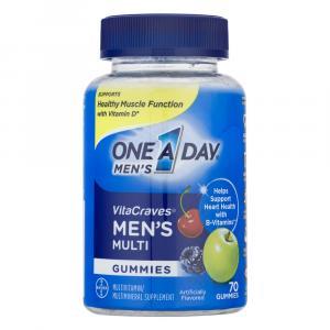One A Day Men's VitaCraves Gummies Multivitamins 40% More