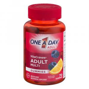 One A Day VitaCraves Gummies Adult Multivitamins 40% More