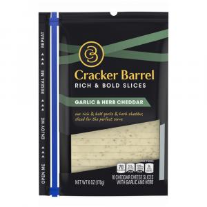 Cracker Barrel Garlic & Herb Cheddar Slices