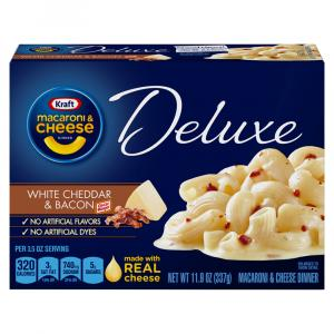 Kraft Deluxe White Cheddar Bacon Macaroni & Cheese Dinner