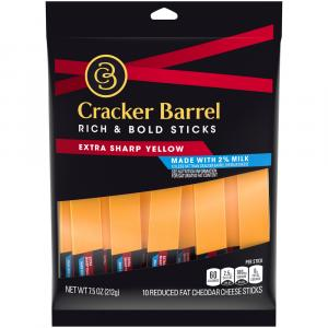 Cracker Barrel 2% Extra Sharp Cheddar Cheese Sticks