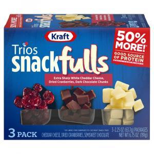 Kraft Trios Snackfuls Extra Sharp Cheddar Cheese,