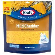 Kraft Finely Shredded Mild Cheddar Family Size