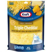 Kraft Finely Shredded Triple Cheddar Cheeses