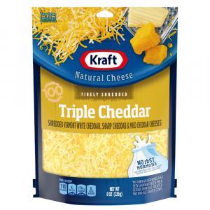 Kraft Finely Shredded Triple Cheddar Cheeses