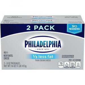 Philadelphia Cream Cheese Plain 1/3 Less Fat Bar