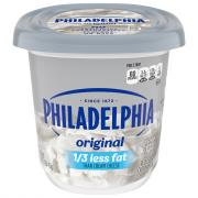 Philadelphia Cream Cheese Plain 1/3 Less Fat Tub