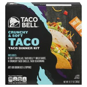 Taco Bell Crunchy And Soft Taco Dinner Kit