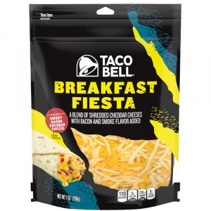 Taco Bell Breakfast Fiesta Shredded Cheddar Chesse