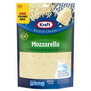 Kraft Part-skim Shredded Mozzarella Cheese