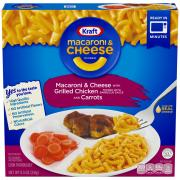 Kraft Macaroni & Cheese with BBQ Chicken and Carrots