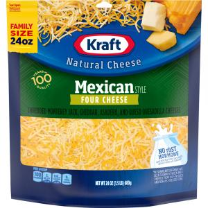 Kraft Mexican Style Four Cheese Family Size