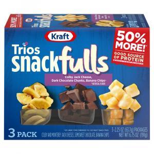 Kraft Trio Snackfuls Colby Jack Cheese, Dark Chocolate Chunk