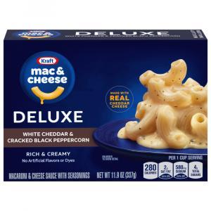 Kraft Deluxe White Cheddar & Cracked Black Peppercorn