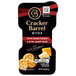 Cracker Barrel Bites Extra Sharp Yellow With Butter Crackers