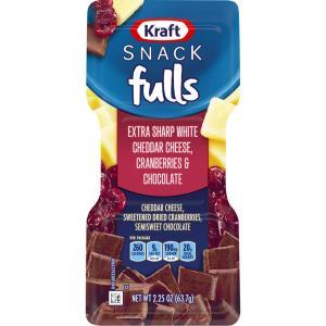 Kraft Trio Snack Fulls Cheddar Cheese Dried Cranberries
