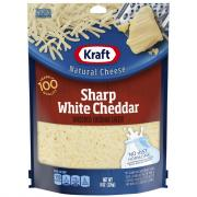 Kraft Sharp White Cheddar Shredded Cheese