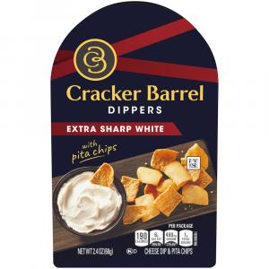 Cracker Barrel Dippers Extra Sharpe White With Pita Chips