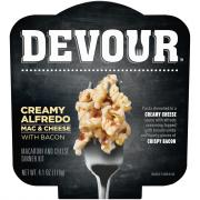 Devour Creamy Alfredo Mac & Cheese with Bacon
