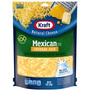 Kraft Mexican Cheddar Jack Shredded Cheese