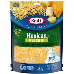 Kraft Mexican Four Cheese Shredded Cheese