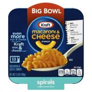 Kraft Macaroni & Cheese Spirals Big Bowl