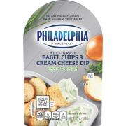 Philadelphia Bagel Chips & Cream Cheese Dip Chive And Onion