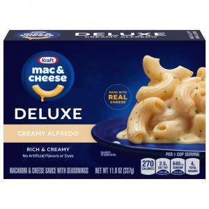 Kraft Deluxe Creamy Alfredo Macaroni & Cheese Dinner