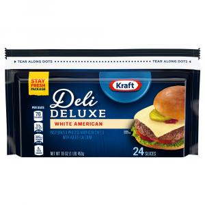 Kraft Deluxe White American Cheese Singles