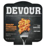 Devour Creamy Sharp Cheddar Mac & Cheese with Bacon