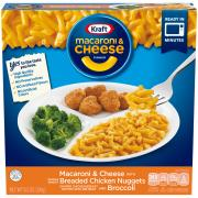 Kraft Macaroni & Cheese with Chicken Nuggets and Broccoli