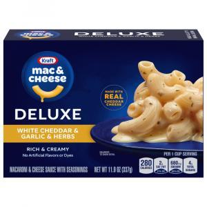 Kraft Deluxe Macaroni & Cheese White Cheddar & Italian Herbs