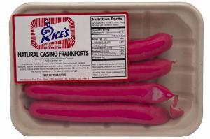 Rice's Regular Pink Franks