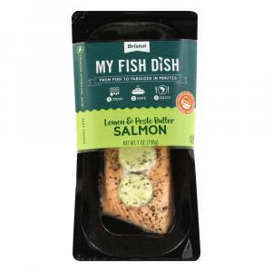 My Fish Dish Atlantic Salmon Lemon Pesto