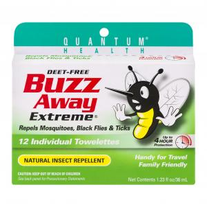 Quantum Buzz Away Towelettes