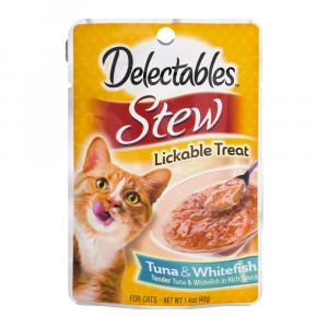 Delectables Tuna & Whitefish Stew Lickable Cat Treats