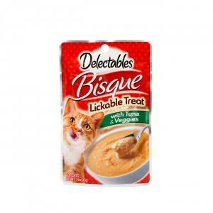 Delectables Bisque Lickable Treat with Tuna & Veggies