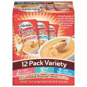 Delectables Bisque Variety Lickable Treats